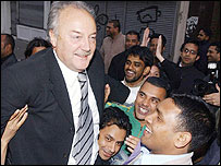 George Galloway and supporters
