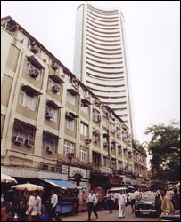 A view of Mumbai's stock exchange