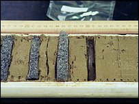 Core samples.  Image: Tom Kleindinst, Woods Hole Oceanographic Institution