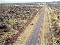 The remote outback road near Alice Springs where the murder took place