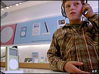 Boy listening to an iPod
