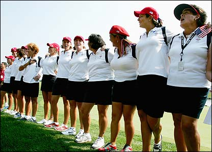 America's women celebrate regaining the Solheim Cup