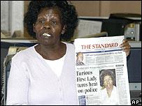 Lucy, wife of Kenya's President Mwai Kibaki