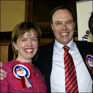 Nigel Dodds with his wife Diane