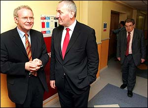 Martin McGuinness with Mark Durkan