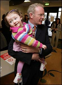 Martin McGuinness with his granddaughter