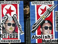 South Korean demonstration against North's nuclear programme