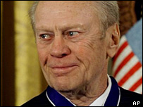 Former US President Gerald Ford. File photo