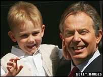 Tony and Leo Blair