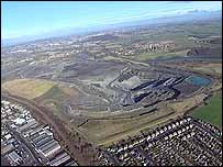 Orgreave opencast mining site
