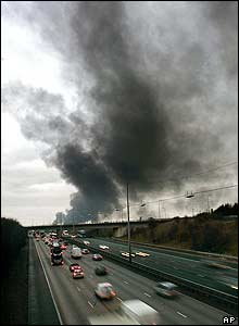 Smoke over the M1