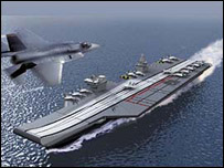 Artist's impression of carrier