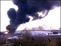 Fire at depot