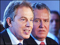Tony Blair and Peter Hain
