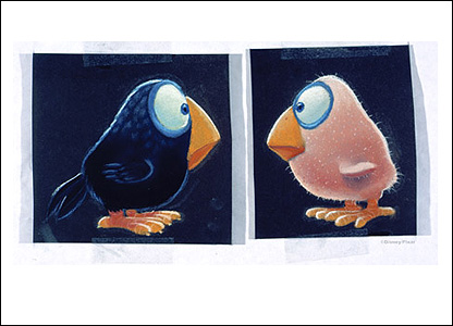 Pastel pre-production sketch, For the Birds - Copyright Disney/Pixar