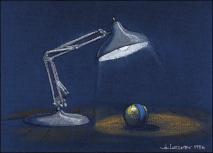 Luxo from Luxo Jr.  Pastel © Pixar