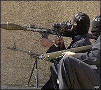 Fighters in Falluja