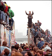 Collapse of the Berlin wall, 1989
