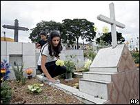 Cemetery in Biritiba Mirim, Brazil