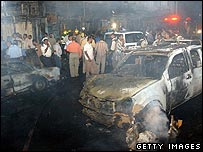 Aftermath of bomb blast in Basra