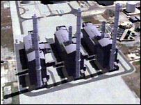 Computer generated image of the proposed power station
