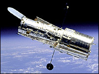 The Hubble tescope in orbit.  Image: Nasa