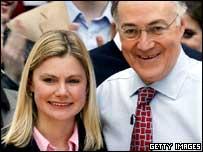 New Conservative MP for Putney Justine Greening and Michael Howard