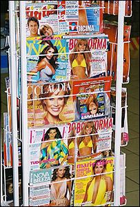 Puesto de revistas en el noreste de Brasil