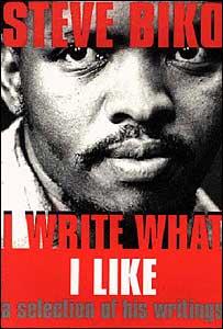 "Portada de un libro con textos de Biko, titulado ""Escribo lo que quiero"""