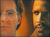 """Kevin Kline y Denzel Washington, actores de la pel�cula """"Grito de Libertad"""""""
