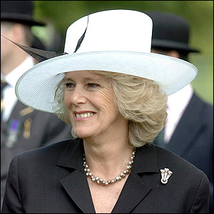 The Duchess of Cornwall at Hyde Park's Cavalry Memorial.