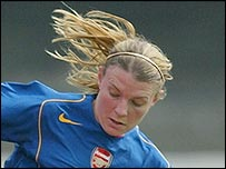 Arsenal striker Julie Fleeting