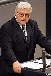 Frank Walter Steinmeier, ministro alemán de Relaciones Exteriores