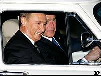 Bush driving Putin's car