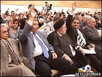 Voting for the new cabinet in the Iraqi Parliament.