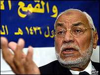 Mahdi Akef of Egypt's Muslim Brotherhood