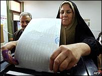 Voter in Baghdad