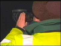 Officers used night vision binoculars to clampdown on illegal cocklers