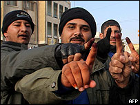 Voters in Basra