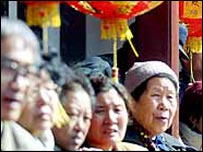 Elderly Chinese people