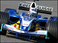 Nick Heidfeld tests the new BMW-Sauber in Barcelona