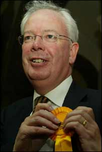 Jim Wallace, campaigning in the general election