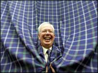 Jim Wallace promoting the G8 tartan