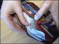 Una billetera abierta