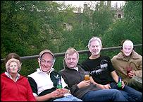 Ben Salt and friends at Queen's College Cambridge