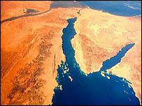 سيناء وجزء من البحر الأحمر