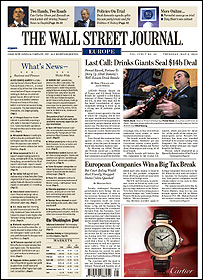 The planned new Wall Street Journal Europe