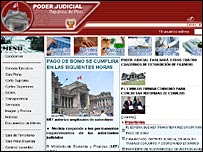 Peru's Judiciary Branch website