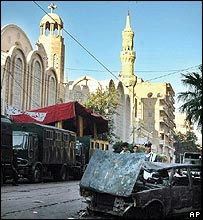 Alexandria: Burnt-out car at scene of anti-Christian rioting