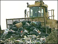 Rubbish at a landfill